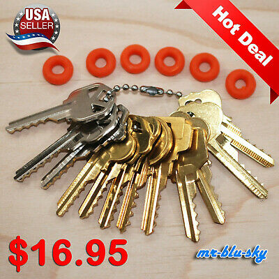 $16.95 Cut Key Set of 12 (Residential) with 6 rubber rings, locksmith lockout