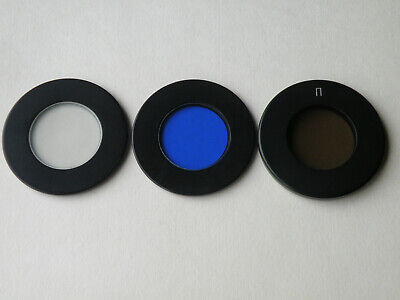 NEW! Set of 3 Glass Filters for polarizing POL microscope MIN LOMO ZEISS