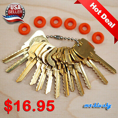 $16.95 Cut Key Set of 13 (Commercial) with 6 rubber rings, locksmith lockout