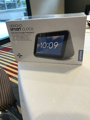 Brand New and Unopened - Lenovo smart clock with Google Assistant - Hemp Grey