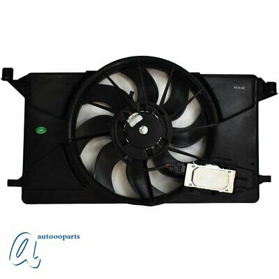 For Ford Focus 12-18 Radiator Condenser Cooling Fan Motor W// module