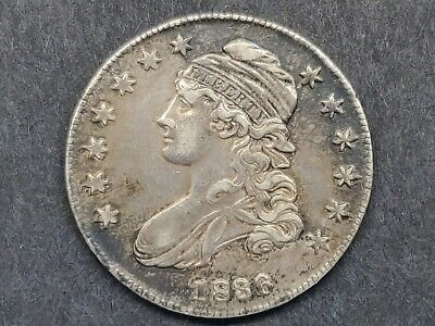 1836 Capped Bust Half Dollar Xf Details Lettered Edge