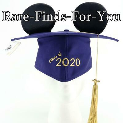 Disney Park Mickey Mouse Ear Graduation Class of 2020 Mortarboard Tassel Hat Cap
