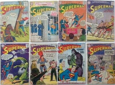 DC EARLY SILVER AGE COMIC LOT x 6 SUPERMAN COMICS 105-131 1950's