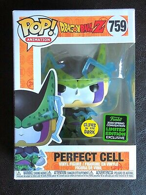 Funko Pop Dragonball Series Perfect Cell Gitd Eccc Shared Exclusive