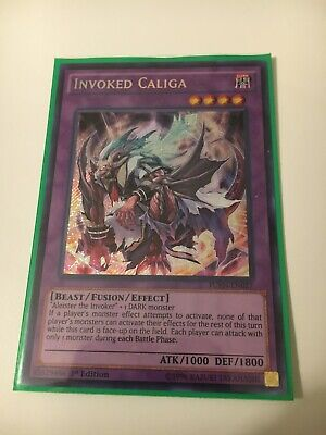 YUGIOH Invoked Caliga FUEN-EN027 Secret Rare 1st Ed NM