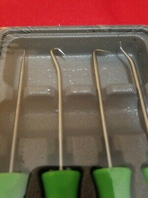 New Snap-On Green Soft Handled 4Pc Mini Awl & Pick Set Free Shipping Made In Us