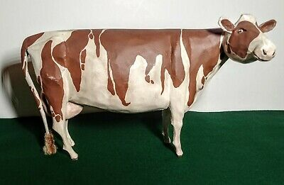 Folk Art Ayrshire Milk Cow ~ Larry Koosed 2007 ~ Hand Carved & Painted