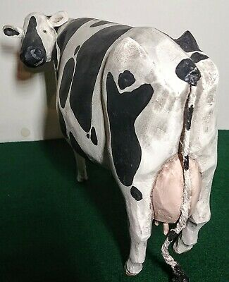 Folk Art Holstein Milk Cow ~ Larry Koosed 2008 ~ Hand Carved & Painted