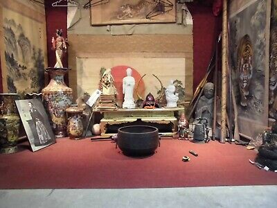 Japanese Buddhist Temple Iron Bowl THE REAL DEAL   ###SEA FREIGHT### VIDEO