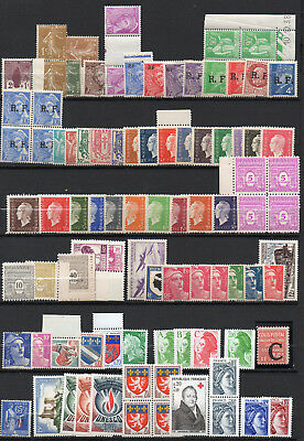 France: 90 timbres neufs (1927/ 78 + service) Cote:82 euros
