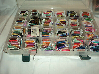 Embroidery threads on cards - assorted colours in embroidery box app 400 +