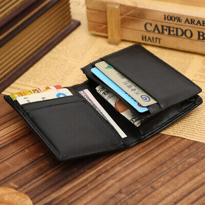 Chic Men's Leather Bifold Coin Pocket Purse Money Clip Credit Card Slots Wallets