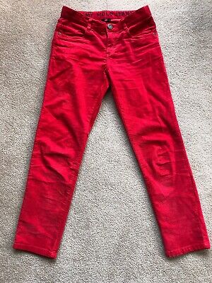 Molo Boys Red Needle Cord Jeans Size 146cm / 9-11 Years
