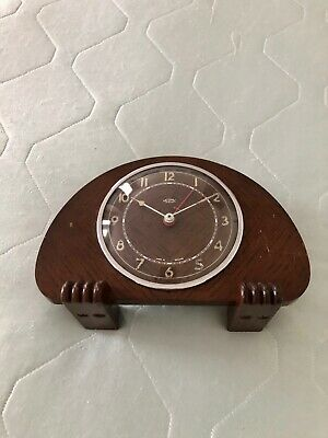 Vintage METAMEC Dereham Electric Art Deco Wooden Mantle Clock