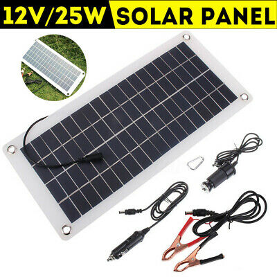 New 25W 12V Car Boat Yacht Solar Panel Trickle Battery Charger Outdoo Power Hot