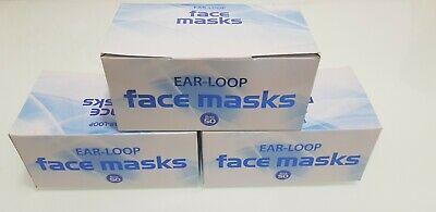 Face mask Disposable 3PLY Surgical flu virus FAST DELIVERY BOX OF 50