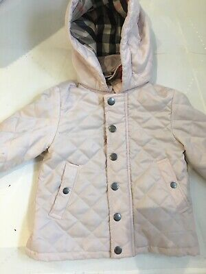 18 month Baby girls Pink Burberry Coat
