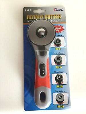 Rotary Cutter / Fabric Cutter ~Cushion Grip ~ 60 mm ~ Left or Right Handed Use.
