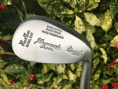J. Drummond (Troon) Hickory Shafted Niblick In Nice Playable Condition