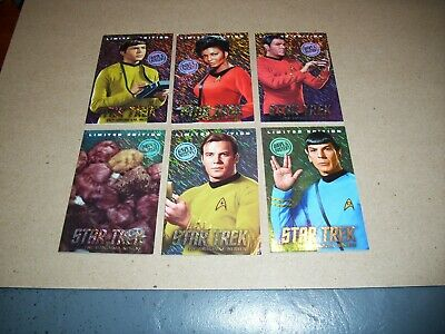 Dave and Buster's Star Trek TOS coin pusher cards LIMITED EDITION FOIL TRIBBLES