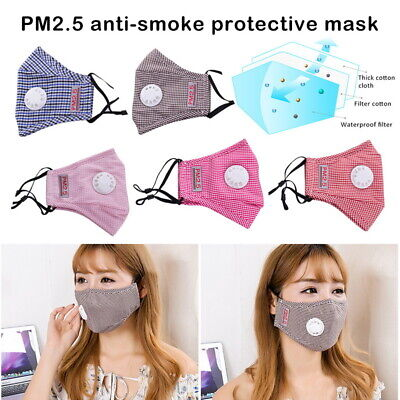 PM2.5  Face Mouth Mask Anti-dust Haze Flu Filter Respirator Washable Breathable