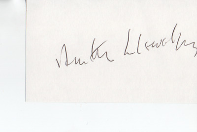 Astronaut Anthony Llewellyn - Unflown - Deceased-Welsh Born -  Signed Card