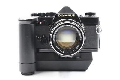 <Excellent> OLYMPUS SLR OM-1 With G.ZUIKO AUTO-S 50mm F/1.4 and POWER WINDER 2