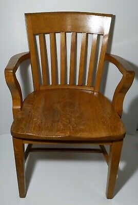 Vintage/Antique Solid Wood Banker/Office Chair Armchair Mission/Arts & Crafts