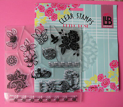 "Art Deco style 'Retro Rose' Acrylic 8""x 8"" stamp set by Trimcraft  £10"
