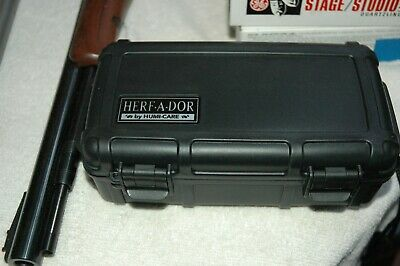 NOS *HERF-A-DOR X10 Cigar Caddy TRAVEL HUMIDOR HOLDS 10 CIGARS! WATERPROOF #1