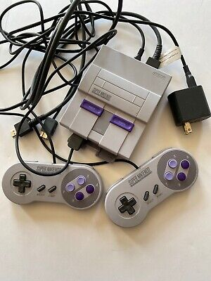 Nintendo Super NES Console - Classic Edition With Controllers And HDMI Cable