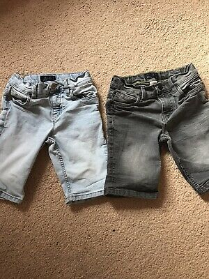 Boys Next Denim Shorts Age 8, Light Blue, Dark Grey/black. Bundle