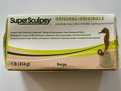 Super Sculpey Polymer Clay 12.5 Oz Beige 715891114315 Some Has Been Used