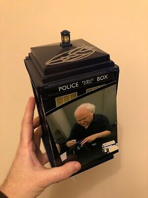 Signed Dr Who Tardis By Colin Baker