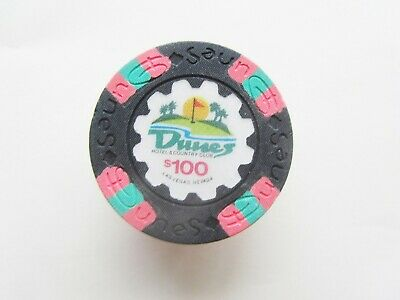 DUNES Casino  - Las Vegas, NV - OBSOLETE $100 CASINO CHIP - 1989 issue