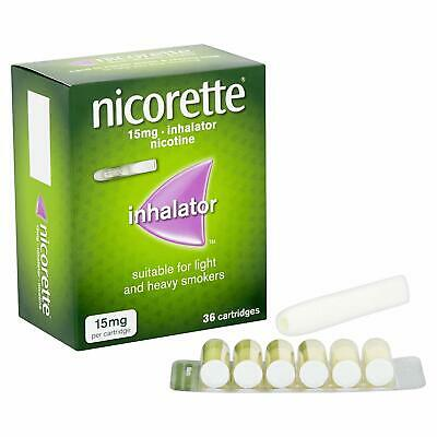 Nicorette inhalator 36 cartridges x 3 = 108 cartridges in total big saving 100%