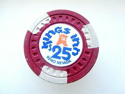 Kings Inn CASINO, RENO, NV - OBSOLETE $25 CASINO CHIP - CLOSED CASINO