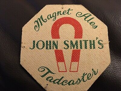 Rare Vintage John Smith's Tadcaster Magnet Ales Beer Mat Beermat Coaster