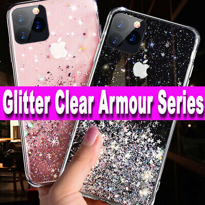 iPhone XR,11,11 PRO MAX,XS MAX,7,8,6,X GLITTER BLING Shockproof TPU Case Cover