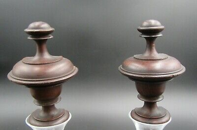antique french bed finials these are FLAT back to go with narrow headboard
