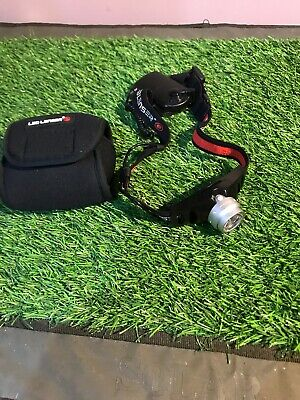 Led Lenser H7 Head Torch. With Pouch. Fishing Or Hiking
