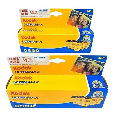 Kodak Ultramax 400 Versatility All Condition 10-Pack Sealed NEW Expire Film 4/10
