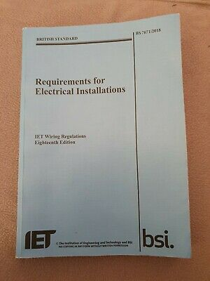 IET Wiring Regulations, 18th Edition, BS 7671:2018, Onsite Guide &Learning Guide