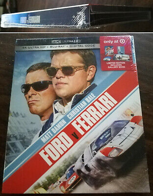 Ford v Ferrari Target Exclusive (4K+Blu-Ray+Digital)  NEW Factory Sealed
