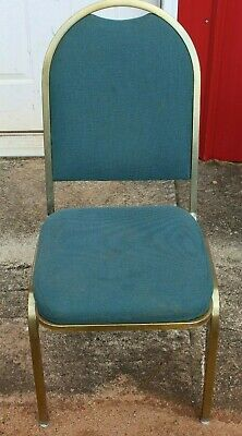 Curved Back Banquet Chairs - Teal with Gold Frame - Local Pick Up Only