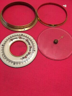 Aneroid Barometer Parts Enamel Dial Glass Bezel Pointer