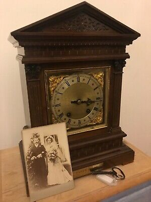 antique w&h mantle clock  working