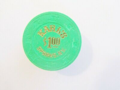 SILVER CLUB  (KARL'S) CASINO - SPARKS,  NV - OBSOLETE CASINO CHIP - 1989 issue