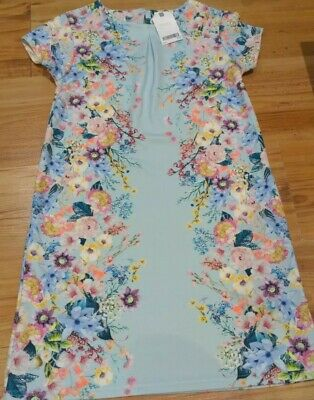 Girls NEXT Occasion Party Dress Floral Mint Blue Age 11 BNWT